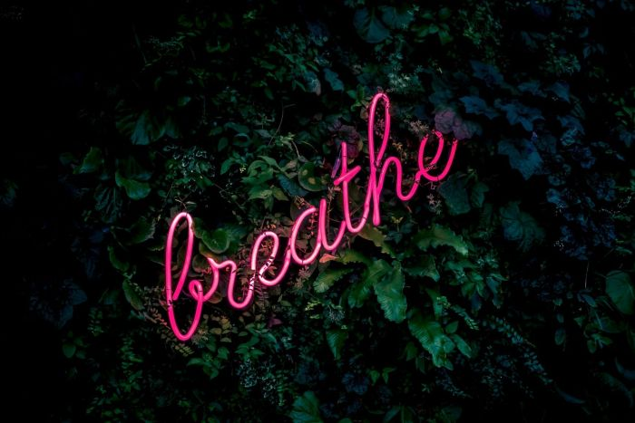 A reminder to breathe in these stressful times