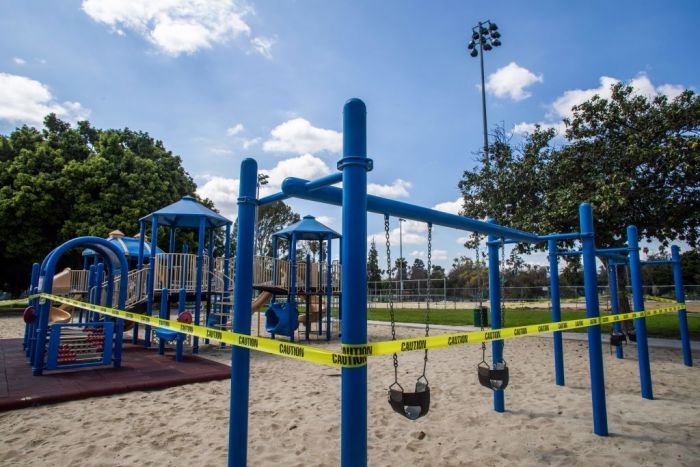 Playgrounds reopen after months of being closed due to the spread of the coronavirus.