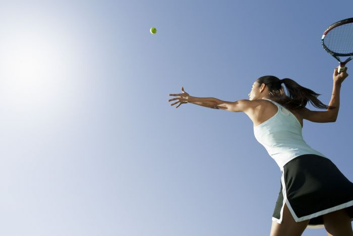 Woman enjoying the sport field that fits her most.