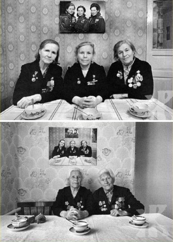 three sisters pose for photos