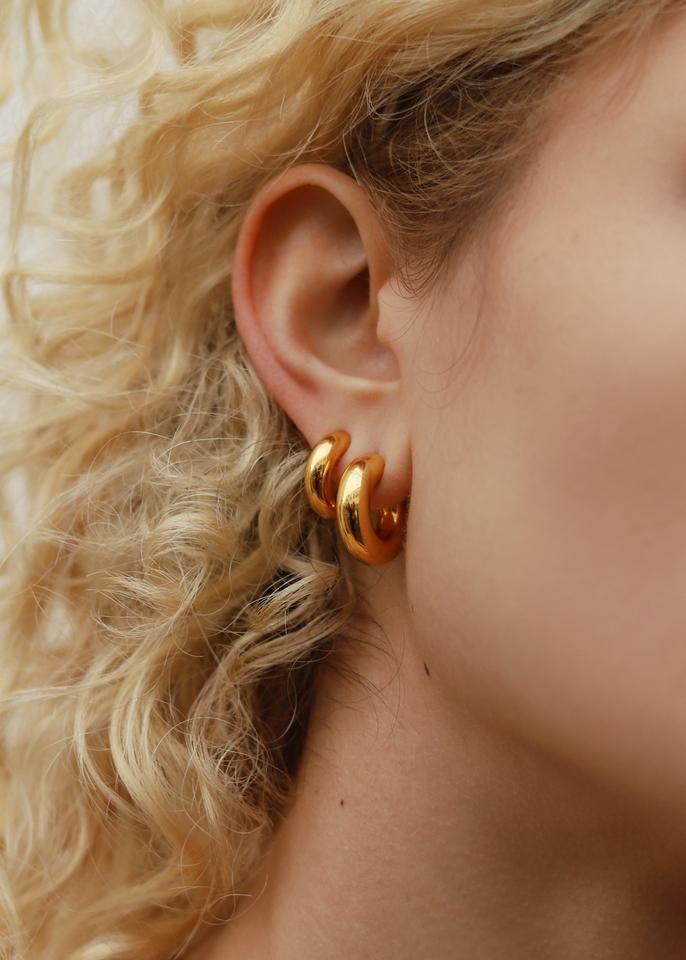 chuppy hoop gold earrings by Missoma